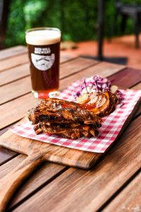 Rack of Low n Slow Ribs & a pint of Scotch Ale